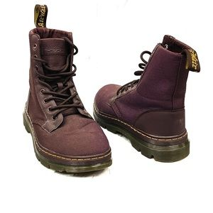 Dr. Martens Maroon Red Purple Combs Boots